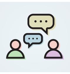 Dialogue vector image