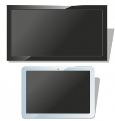 displays set vector image vector image