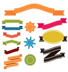 Set of retro ribbons and labels banner vector image