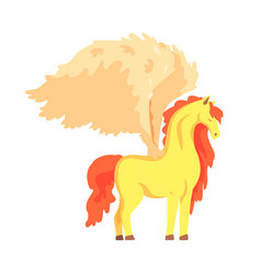 beautiful pegasus winged horse mythical and vector image vector image