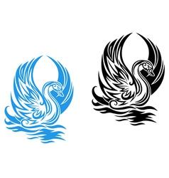 beautiful swan vector image