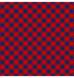 Blue red check diagonal fabric texture seamless vector image vector image