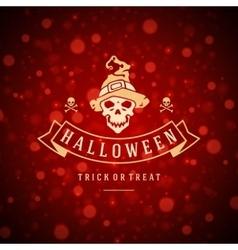 Halloween background and skull vector