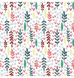 Hand drawn leaf seamless pattern vector image vector image
