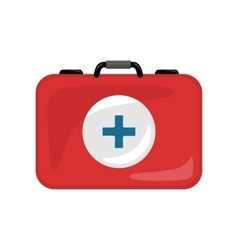 Medical Kit Icon Isolated Realistic Emergency Bag vector image vector image