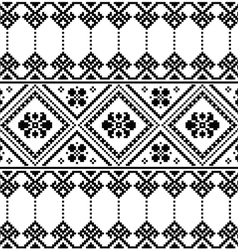 Ukrainian or Belarusian folk art black pattern vector image vector image