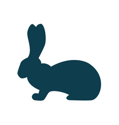 with a rabbit silhouett vector image vector image