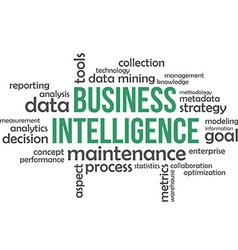 Word cloud business intelligence vector