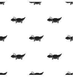 crocodile black icon for web and vector image