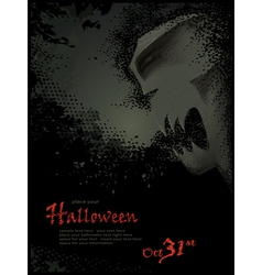 halloween template with skeleton vector image vector image
