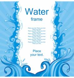 water frame vector image vector image