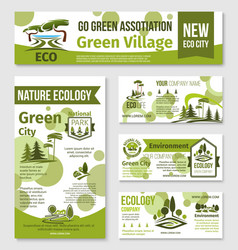 green city eco business banner template design vector image vector image