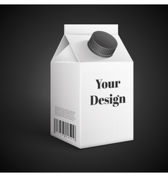Milk Juice Beverages Carton Package Blank White vector image