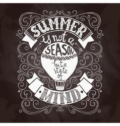 Summer Poster Black vector image