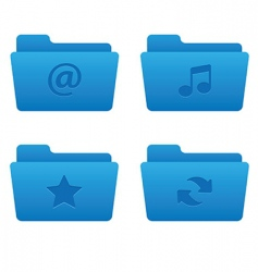 01 blue folders internet icons vector image vector image