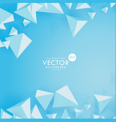 3d polygon triangle on blue background vector image