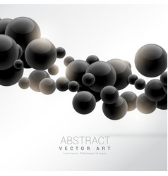 Abstract black floating molecules background vector