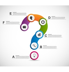 Abstract colorful infographic in form of vector