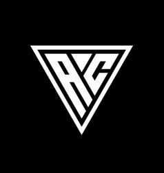 Ac logo monogram with triangle shape designs vector