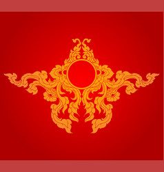 Artistic culture style on a red vector