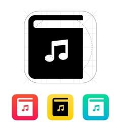 Audio book icon vector