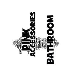 Bathroom accessories text background word cloud vector