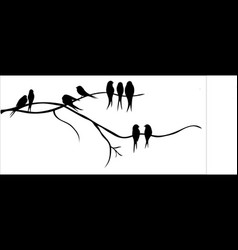 birds on a tree branch vector image