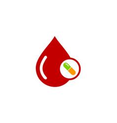 Blood medicine logo icon design vector