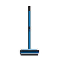 broom house cleaning related icon image vector image
