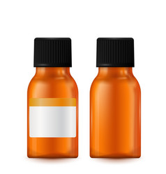 brown pills bottle vector image