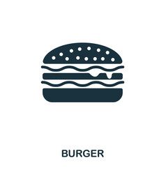 burger icon mobile apps printing and more usage vector image