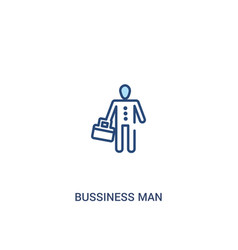 Bussiness man concept 2 colored icon simple line vector