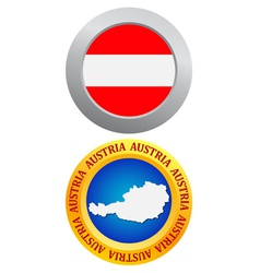 Button as the character Austria vector