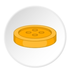 Button icon flat style vector