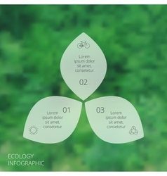circle eco infographic vector image