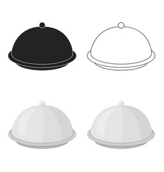 cloche icon in cartoon style isolated on white vector image