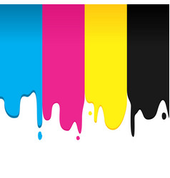 Cmyk paint dripping graphic background vector