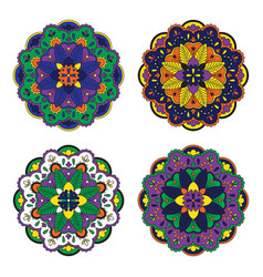Colorful mandala set vector