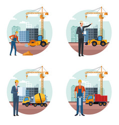 Construction engineer cartoon vector
