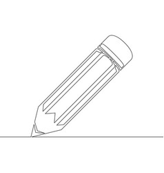 continuous one line drawing pencil vector image