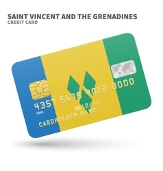 Credit card with Saint Vincent and the Grenadines vector