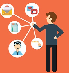 Customer Relationship Management System for vector