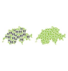 Demographics and nature swissland map vector
