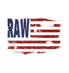 denim america flag typography vector image