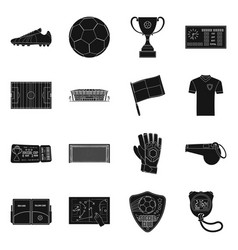 design of soccer and gear symbol vector image
