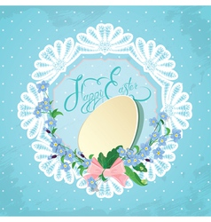 Easter lace card 380 vector