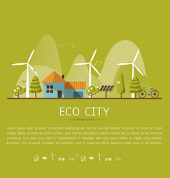 eco home vector image