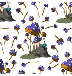 fantasy mushrooms vector image