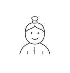 female toddler line outline icon vector image
