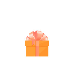 festive box with gift tied with satin bow vector image